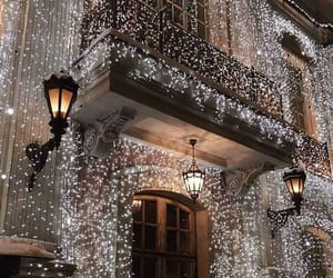 light, architecture, and christmas image