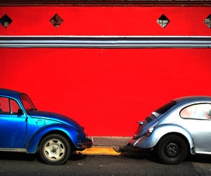 blue, classic, and red image
