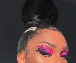 eyeshadow, pink, and girls image