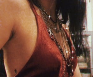 chains, christian, and red dress image