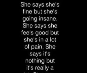depression, sadness, and i'm fine image