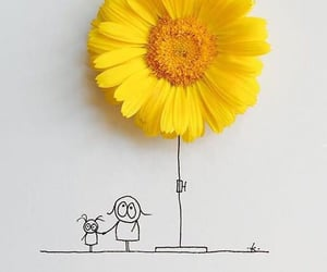 friendship, sun flower, and friends image