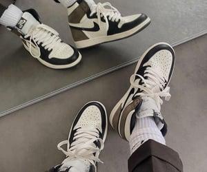 air jordan, beige, and brown image
