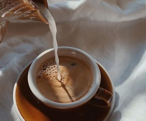 coffee, milk, and aesthetic image