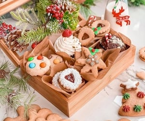 candy canes, Cookies, and january image