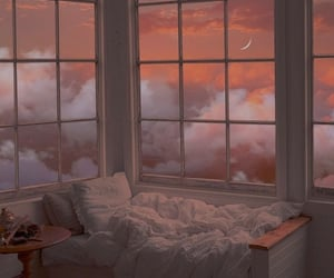 up in the sky, half moon, and bed nook image