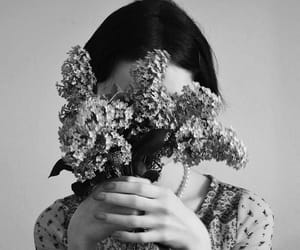 flowers, girl, and hands image