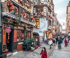 christmas, travel, and winter image
