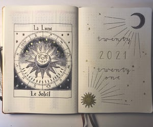 cover, journal, and moon image