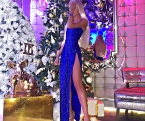 blonde, christmas, and dress image
