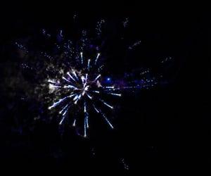 blue, dark, and fireworks image