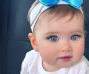 baby, blue, and blue eye image