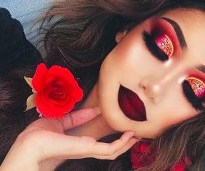 art, eyes, and glamour image