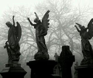 angel, aesthetic, and cemetery image