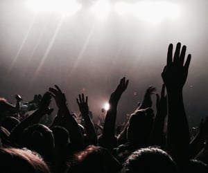 concert, crowd, and aesthetic image