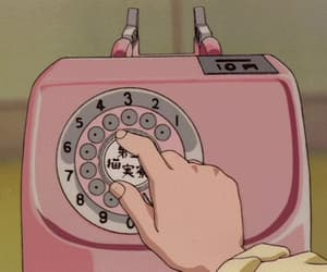 aesthetic, telephone, and anime image
