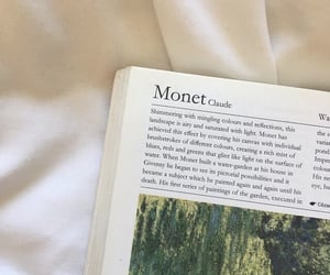 book, aesthetic, and monet image