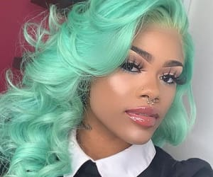 blue hair, dyed hair, and pastel hair image