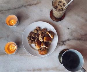 cinnamon buns, dessert, and coffee image