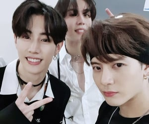 mark, jackson wang, and kim yu gyeom image