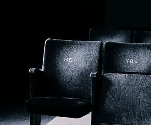 black, couple, and seating image
