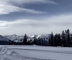 mountains and snow image