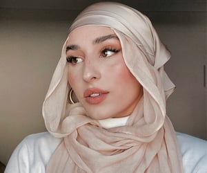 girls, hijab, and style image