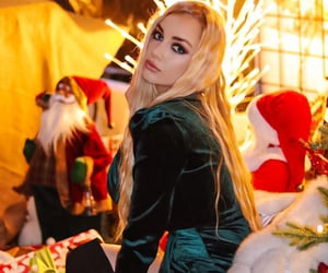 christmas eve, blonde, and new year image