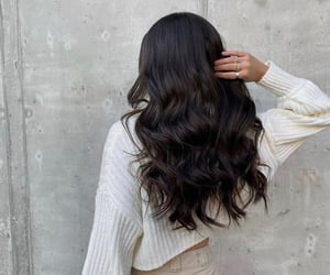brunette, glam, and hair image
