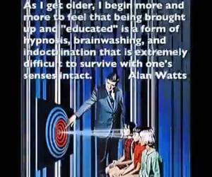 alan watts, spirituality, and awaken image