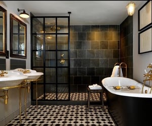 bath, bathroom, and dream home image