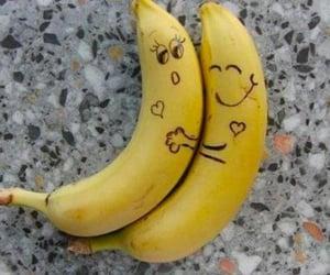 banana, couple, and funny image