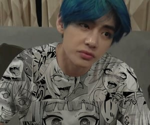 anime, weeb, and kim taehyung image