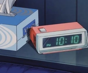 anime, aesthetic, and clock image