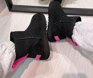 ugg, ugg boots, and black uggs image