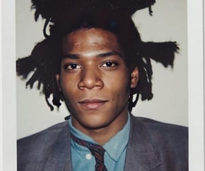andy warhol, artist, and jean michel basquiat image