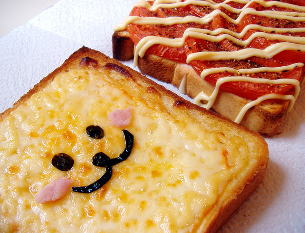 food, cute, and toast image