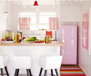 kitchen, pink, and decor image