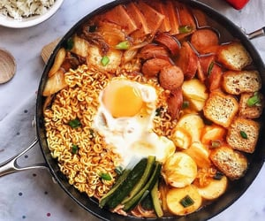 dinner, eggs, and food image
