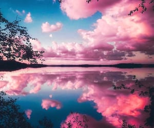 sky, water, and pink image