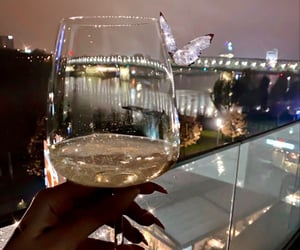 champagne, cities, and drinks image