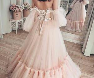 pink prom dress, robe de soirée, and prom dresses 2021 image