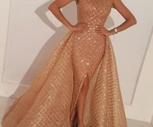 gold prom dresses, champagne prom dresses, and high neck prom dress image