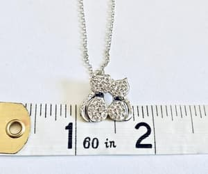 cat lady, vintage jewelry, and sterling chain image