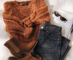 jeans, style, and sweater image
