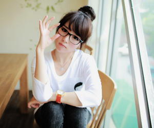 ulzzang, cute, and glasses image