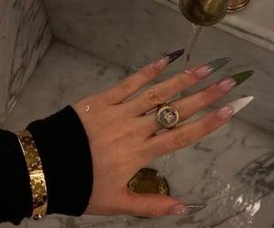 bracelet, girl, and nails image