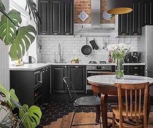 apartment, dark interiors, and decor image