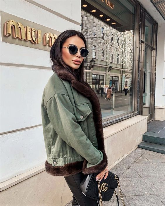accessories, green, and jacket image