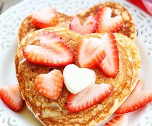 breakfast, strawberries, and pancake recipe image